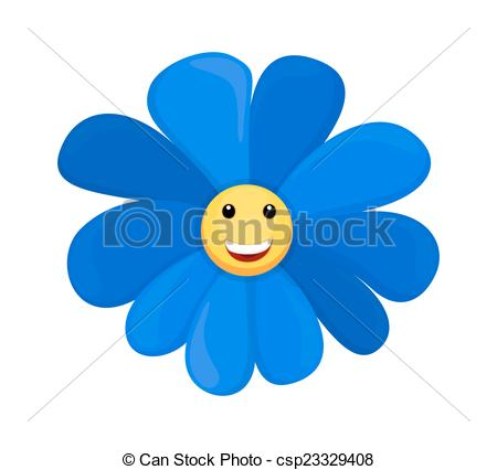 Blue Flower clipart smiley flower Of Happy Happy Happy Smiley