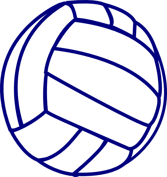Ball clipart netball ball Volleyball Blue Free Clipart Clipart