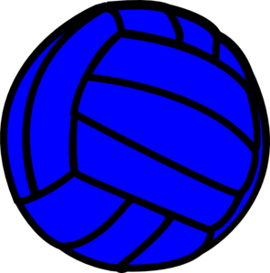 Blue clipart volleyball – volleyball clipart Blue volleyball