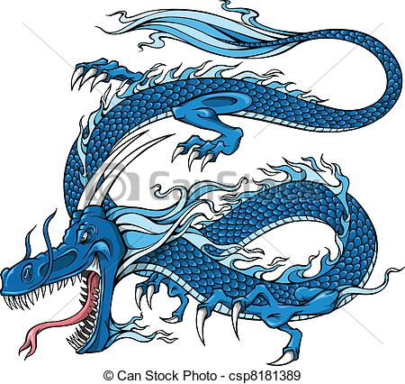 Blue Dragon clipart #10