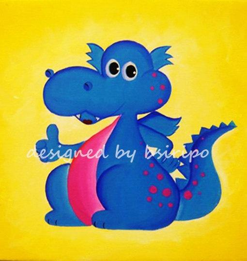Blue Dragon clipart animated Etsy via Original Pinterest Acrylic