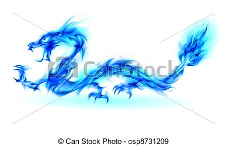 Blue Dragon clipart fire  csp8731209 Blue Stock of