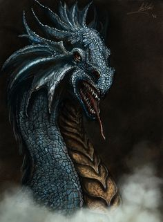 Blue Dragon clipart simple Stock art vector 'Flying Blue
