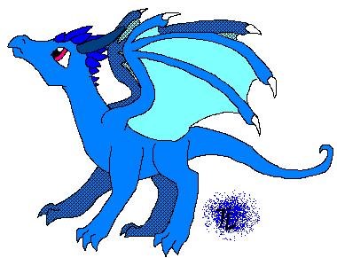 Blue Dragon clipart simple DeviantArt Dragon Stitched by Raven