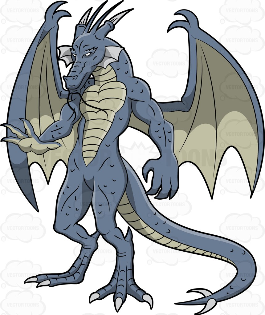 Blue Dragon clipart simple Blue and Dragon Scary A