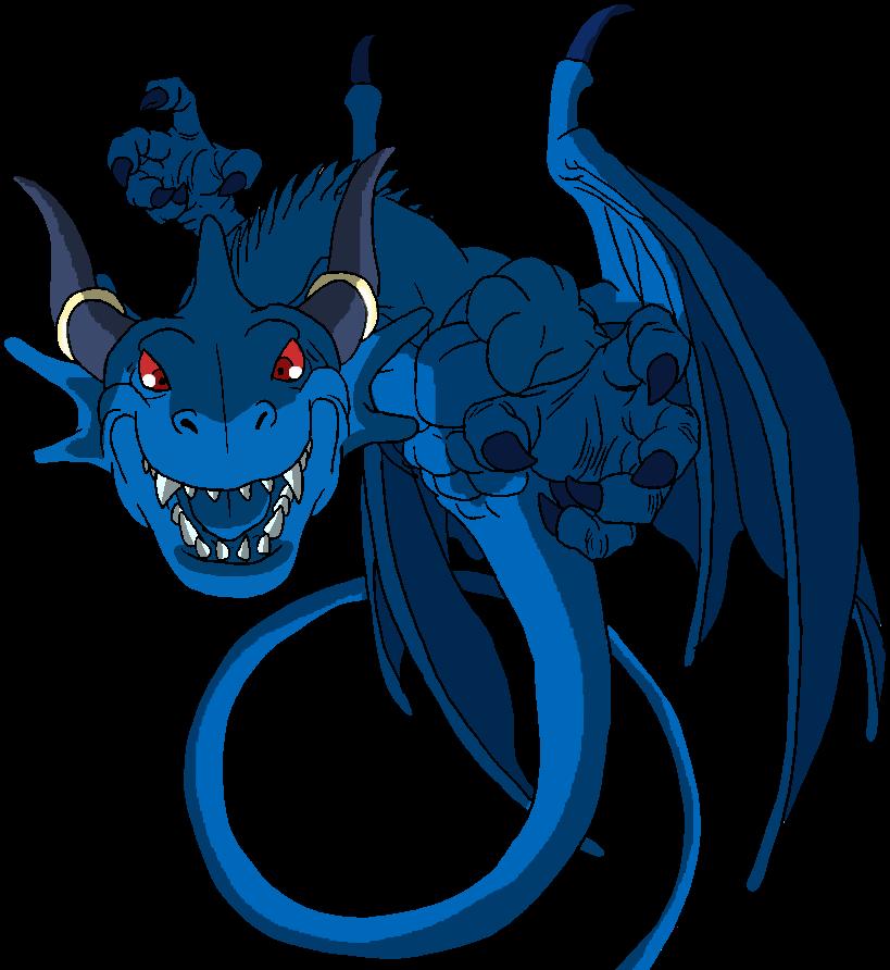 Blue Dragon clipart transparent Dragon on Dragon harbinger2 by