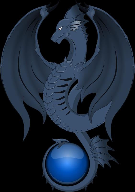 Blue Dragon clipart transparent Blue to Public Clip Domain