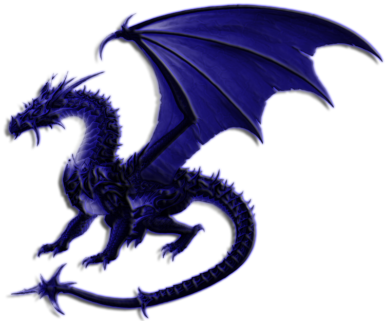 Blue Dragon clipart transparent PNG drago  Art on