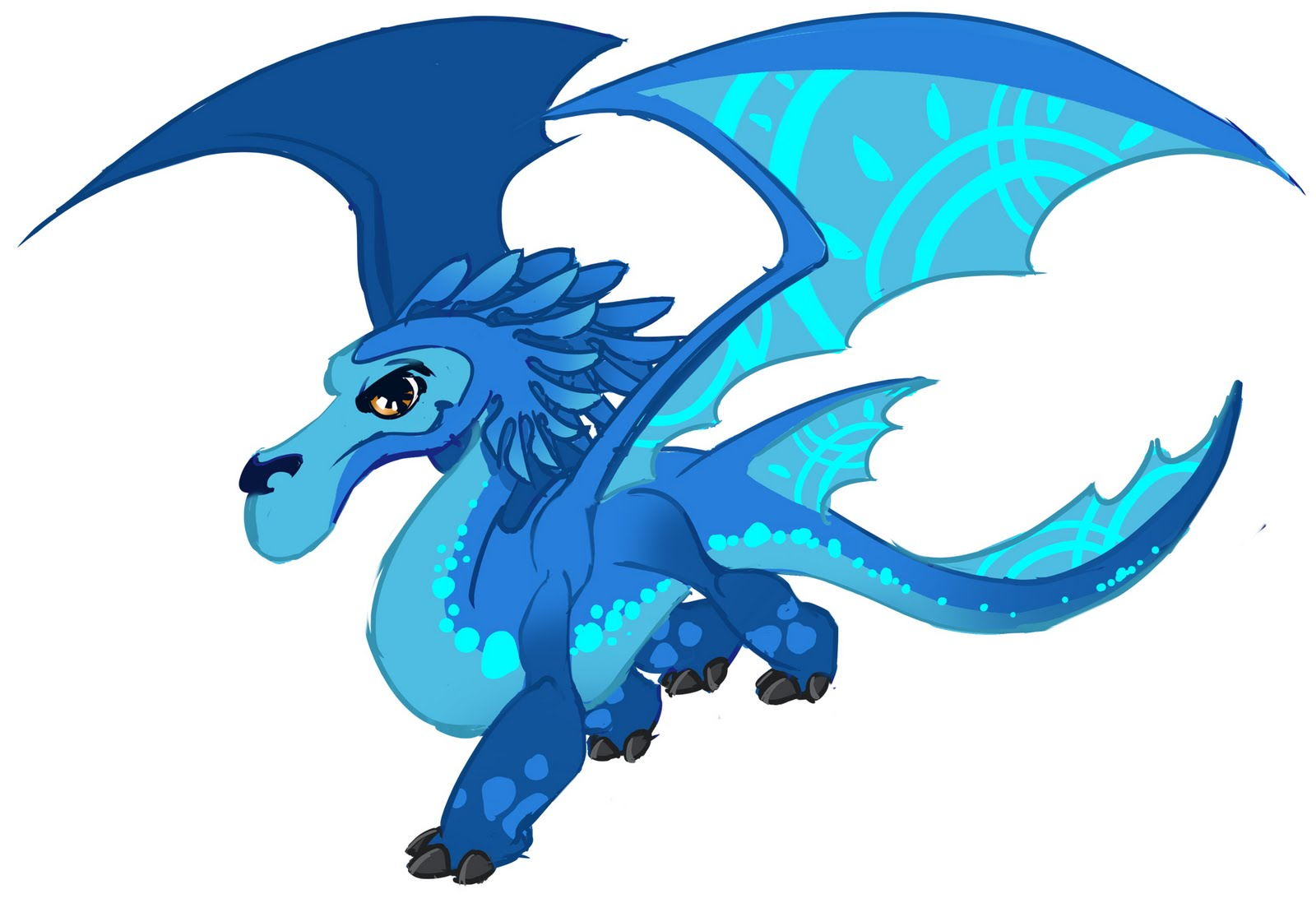 Blue Dragon clipart water dragon Clipart Clipart Animated Best Teqsaw