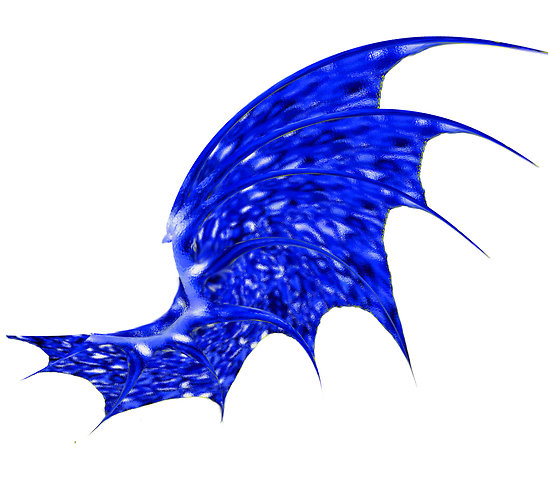 Blue Dragon clipart wings Posters dragon wing