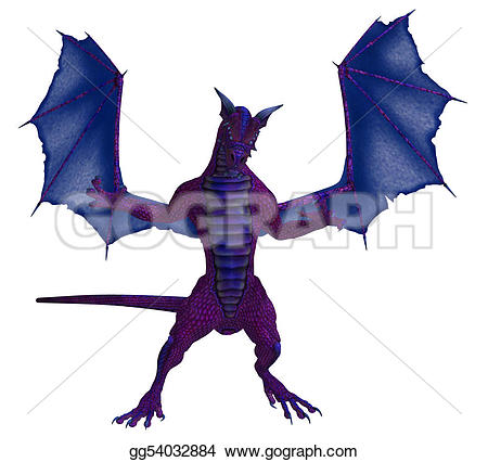 Blue Dragon clipart wings Wings Purple Drawing with gg54032884