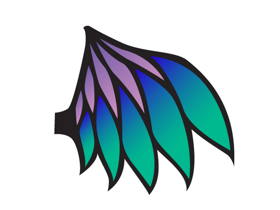 Blue Dragon clipart wings Glass WARPAINT Stain and Wings