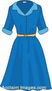 Gown clipart casual dress Blue Clipart Panda Images Dress