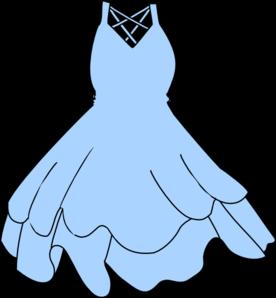 Blue Dress clipart At Clip Light Clker Dress