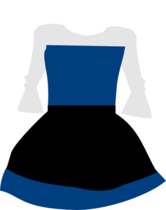 Blue Dress clipart Com at Dress vector Art