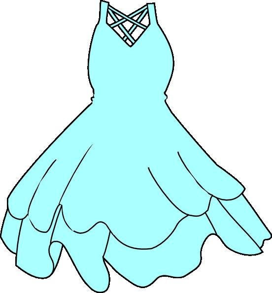 Blue Dress clipart Clker Art Blue com Clip
