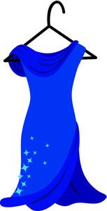 Gown clipart cartoon Clip Clipart Clothes Blue Images