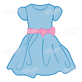 Dress clipart Dress and Clip bow Blue