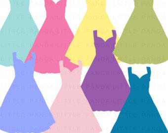 Blue Dress clipart graphic Instant Princess Dress dress Art