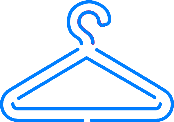 Blue Dress clipart hanger vector Clker  Art Clip Hanger