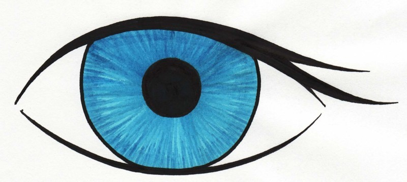Eyeball clipart drawn Blue clipart  Collection eye