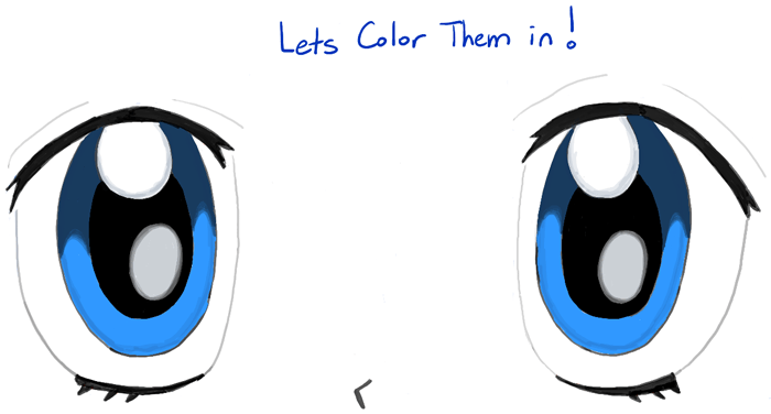 Blue Eyes clipart anime eye Drawing to Anime Draw