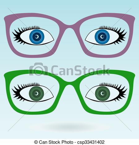 Blue Eyes clipart glass clip art And Vector  blue Green