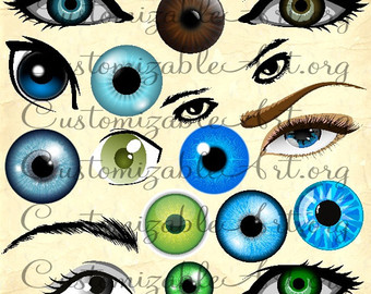 Blue Eyes clipart iris eye Of Brown Digital Right Colored