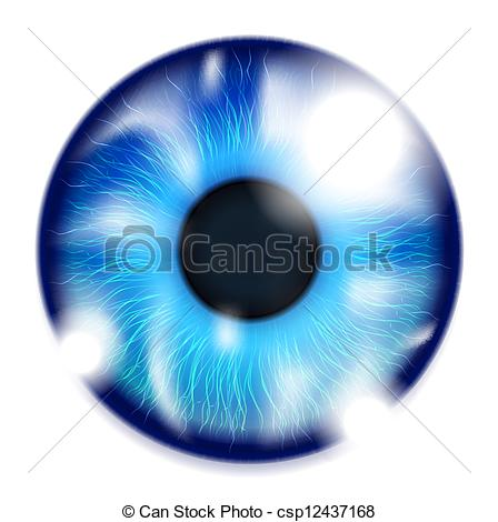 Blue Eyes clipart realistic Stock Blue Illustrations Realistic