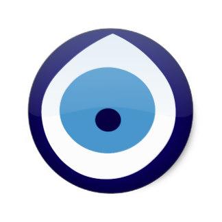 Blue Eyes clipart round eye Eye Sticker Round Zazzle Evil