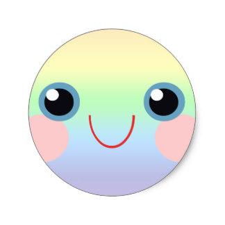 Blue Eyes clipart round eye Eye Face Rainbow Eyes Sticker