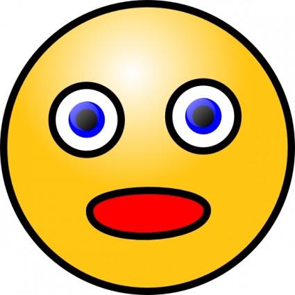 Blue Eyes clipart shock Art Shocked Clip Download Smiley
