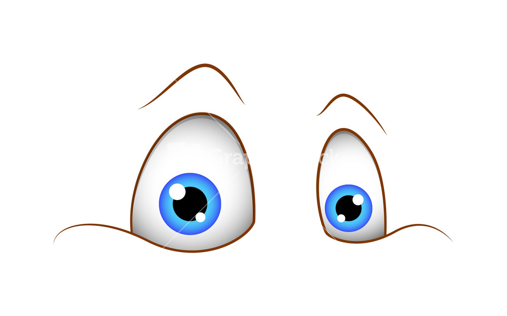 Blue Eyes clipart shock Expression Shocked Eyes Stock