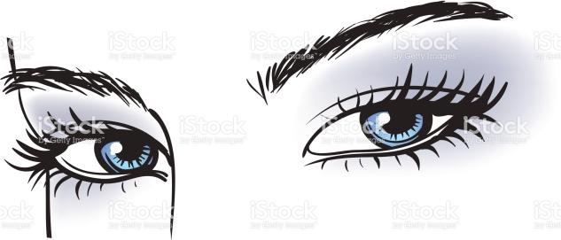 Blue Eyes clipart woman eye Long clipart Eyes vector eyes