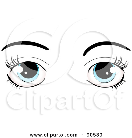 Blue Eyes clipart woman eye Cartoon Blue Lashes Clipart Eyes