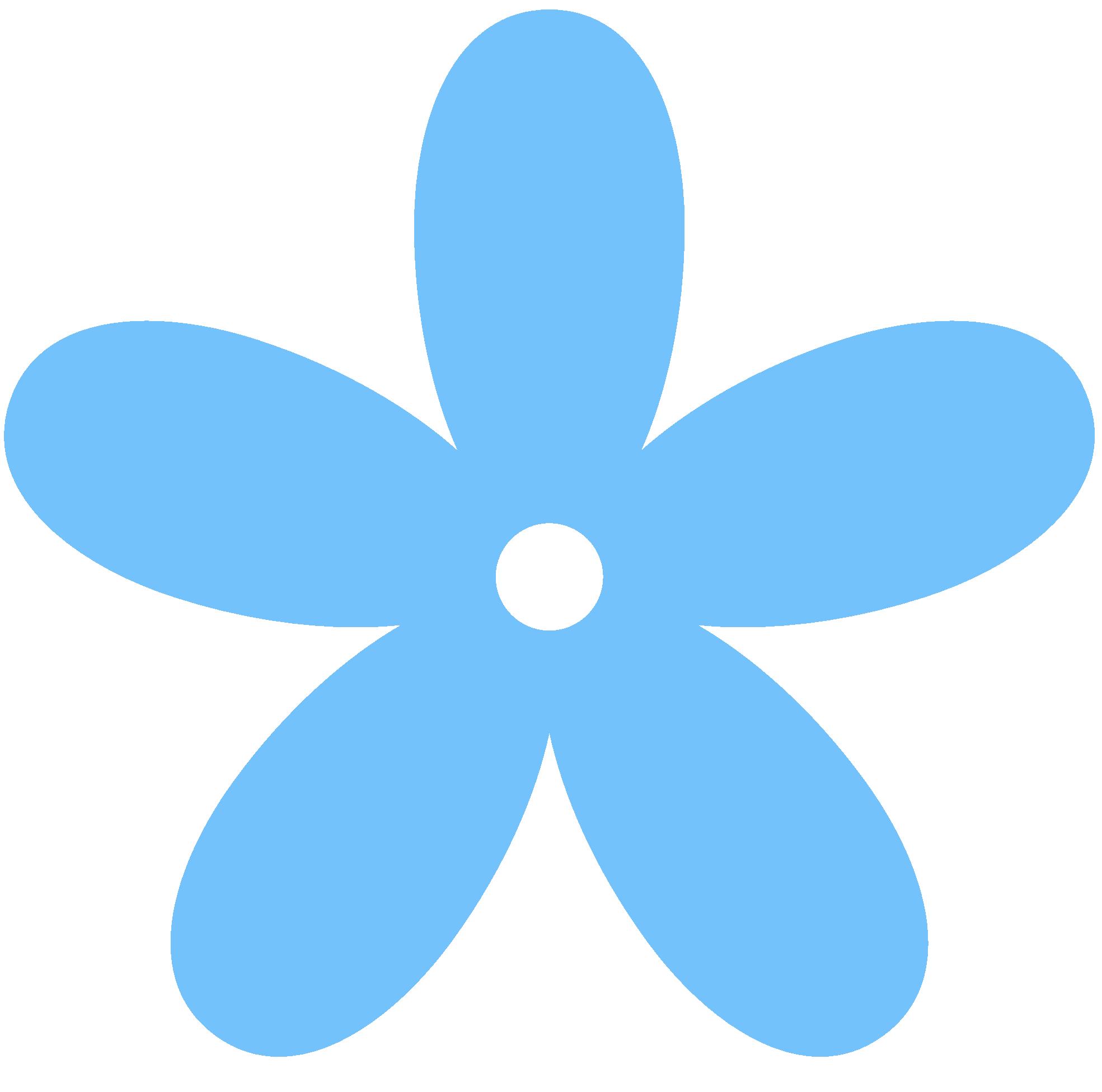 Blue Flower clipart flowery Border Flower Art Images Clipart