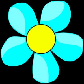 Blue Flower clipart Clker Sky Clip com Flower