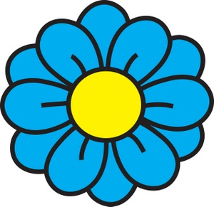Blue Flower clipart groovy #5 Download Flower Flower Blue