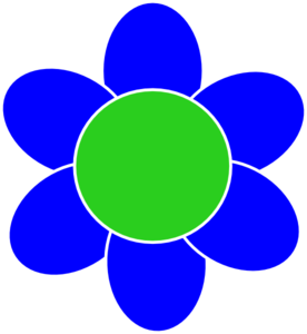 Blue Flower clipart Vector Flower at clip Clip