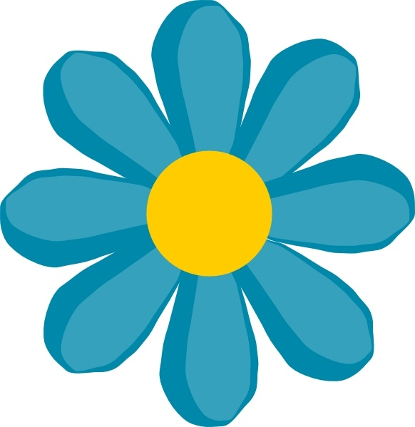Blue Flower clipart groovy  ( svg art vector