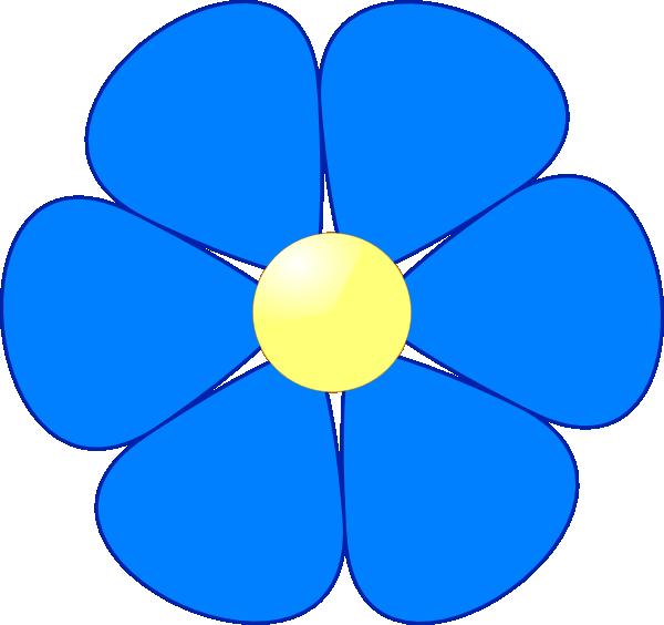 Blue Flower clipart book Flower Blue art flower clip