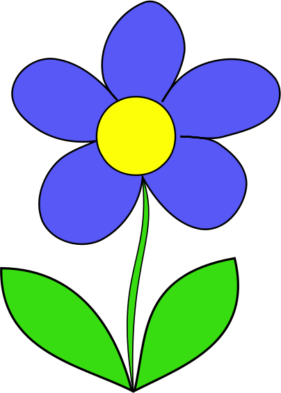 Blue Flower clipart cvet Drawings #1 Flower Download Flower