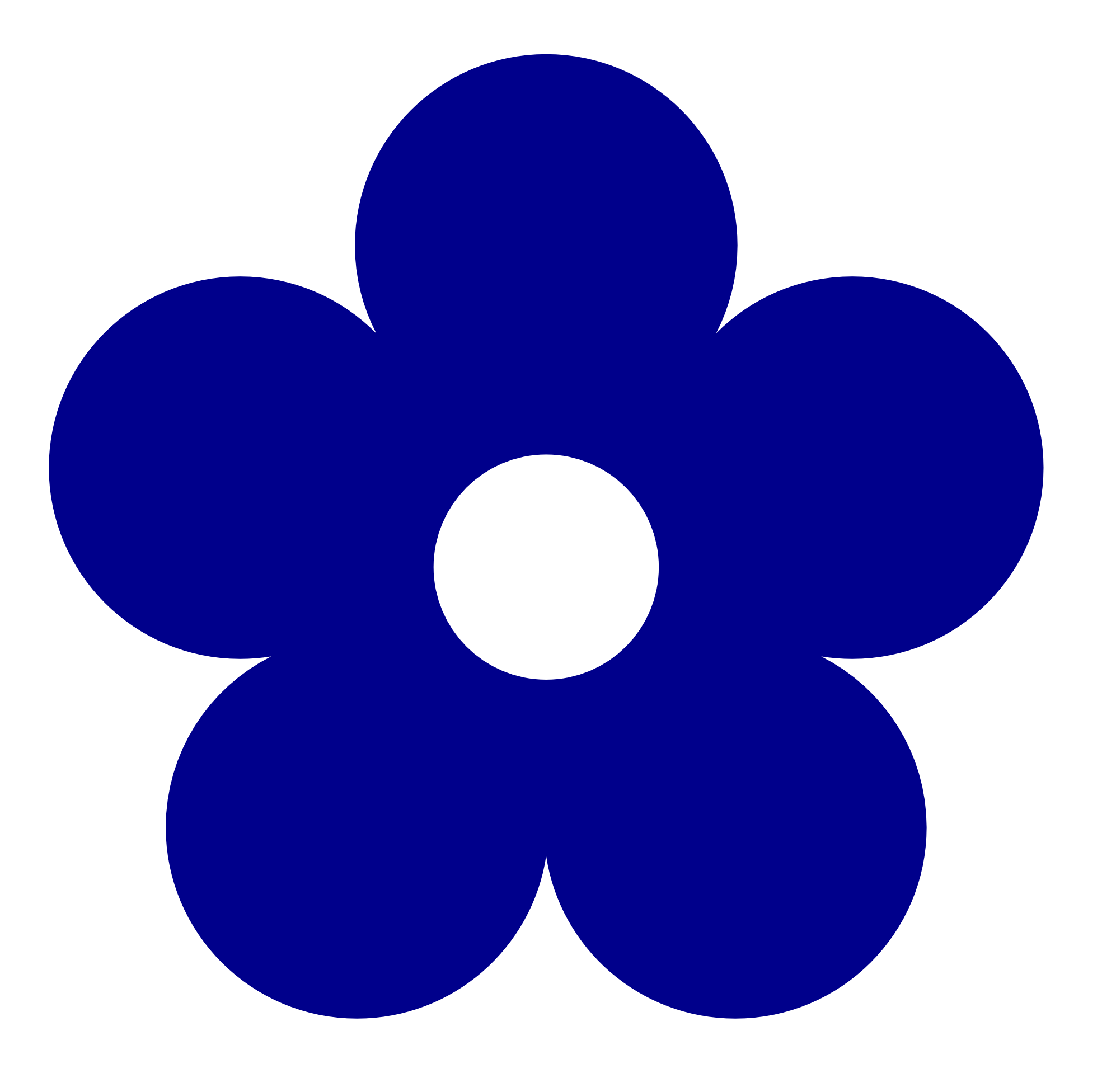 Floral clipart abstract Clipart Flower Dark  Blue