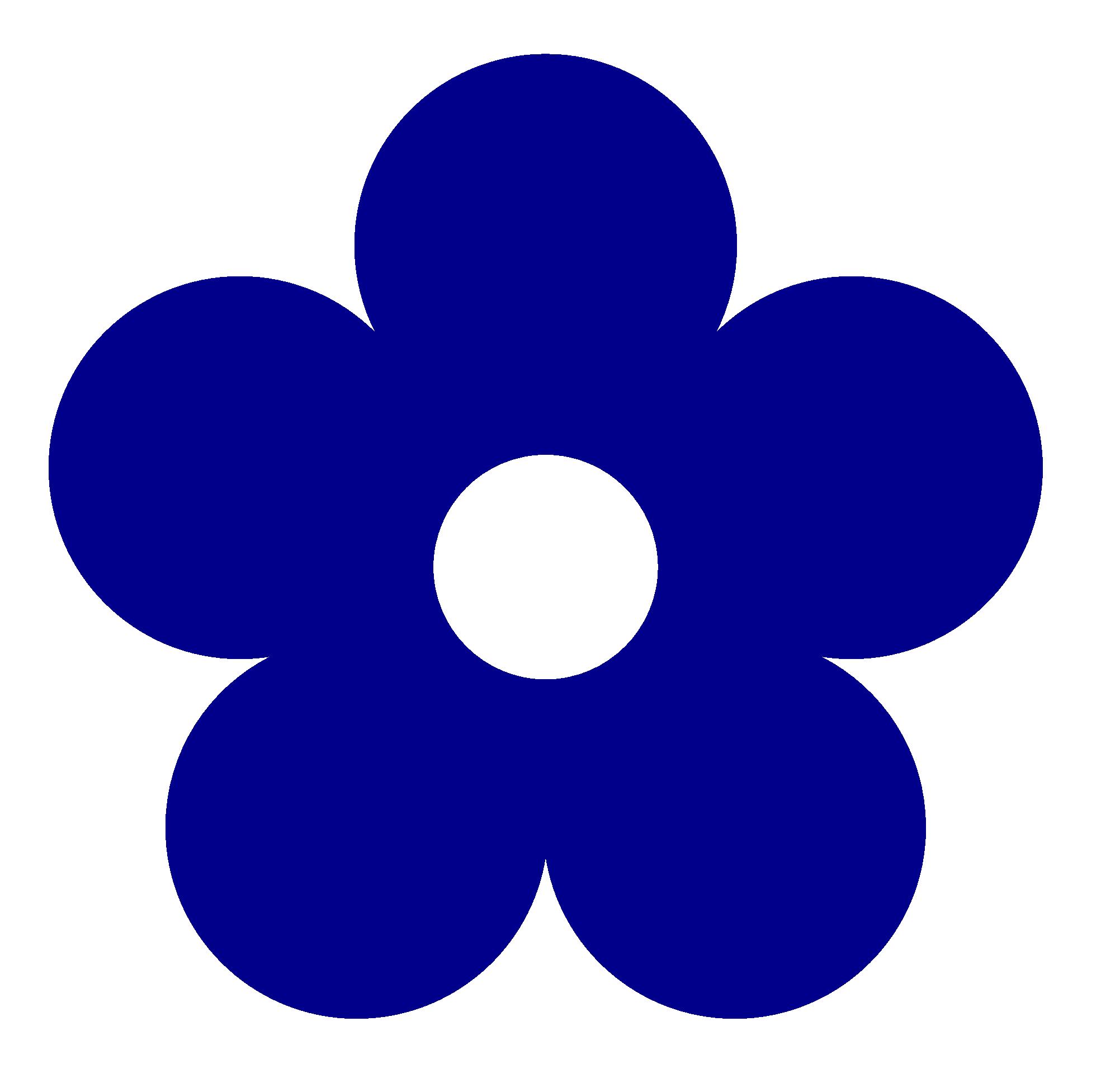 Floral clipart navy blue Clipart Dark  Flower Blue