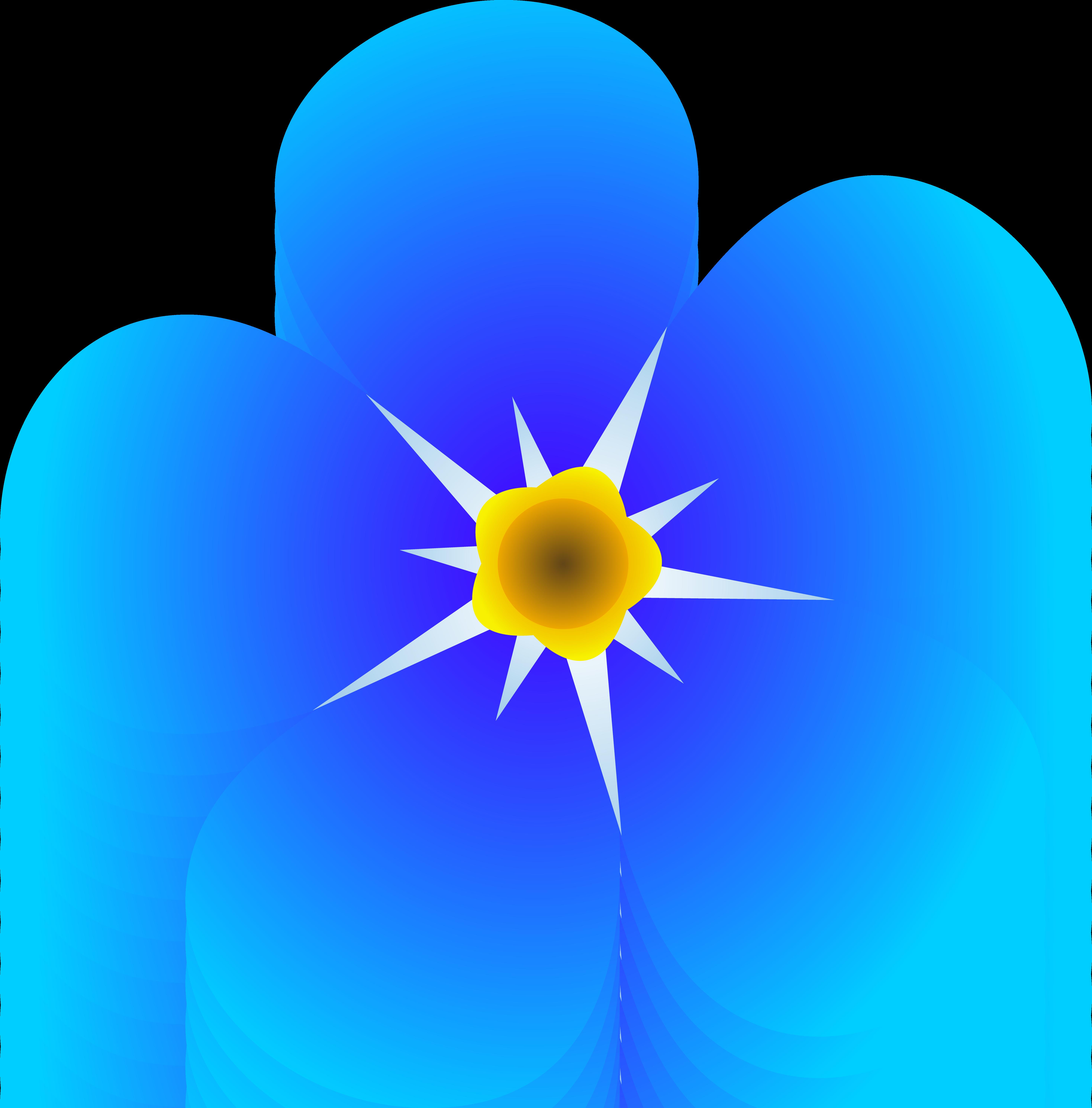 Petal clipart single Drawings Blue clipart Blue Download