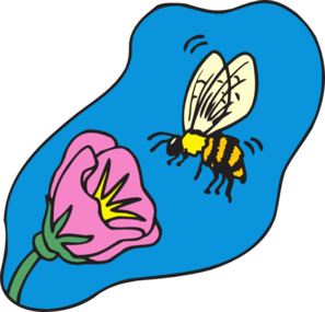 Bees clipart bee flower On flower Art bee Clipart
