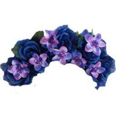 Blue Flower clipart crown Transparent flower Pinterest transparent View