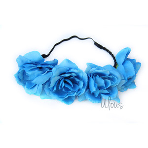 Blue Flower clipart crown Accessorize Wedding Floral Crown Accessory