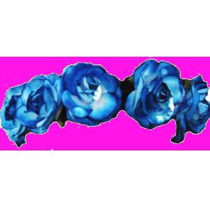 Blue Flower clipart crown PNG Clip #42612 image Art