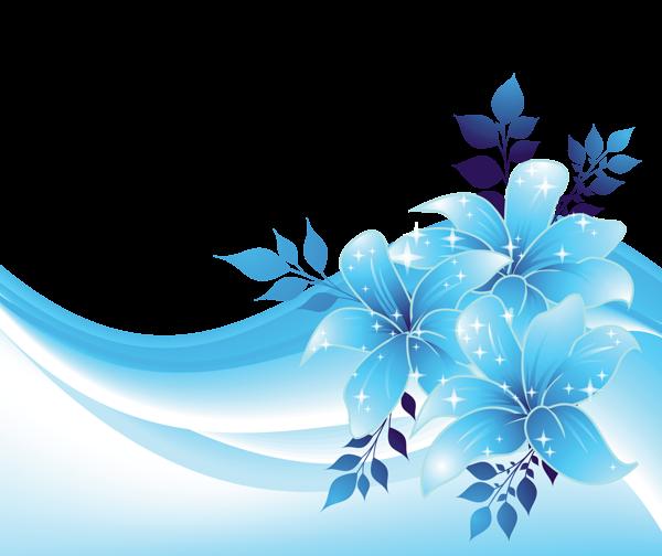 Blue Flower clipart decorative ELEMENTS PNG Transparent ELEMENTS PNG